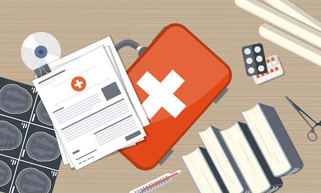 Gezondheidszorg verzekering illustratie