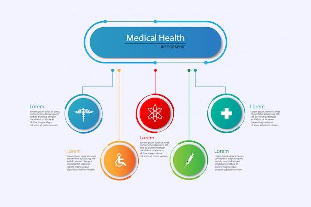 Gezondheidszorg wetenschap medische infographic sjabloon