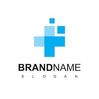 Gezondheidszorg ziekenhuis logo met kruis symbool
