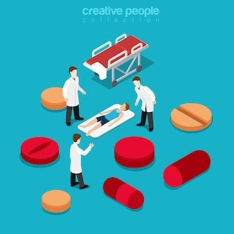 Gezondheidszorg ziekenhuisopname gezonde levensstijl concept