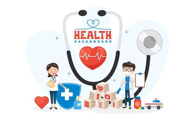 Gezondheidszorgconcept met karakters