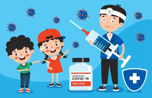 Gezondheidszorgconcept met vaccinatie