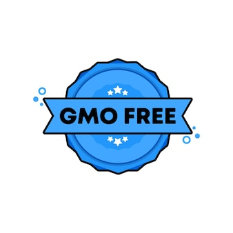Ggo-vrije stempel. vector. ggo-vrij kentekenpictogram. gecertificeerd badge-logo. stempel sjabloon. etiket, sticker, pictogrammen. vectoreps 10. geïsoleerd op witte achtergrond.