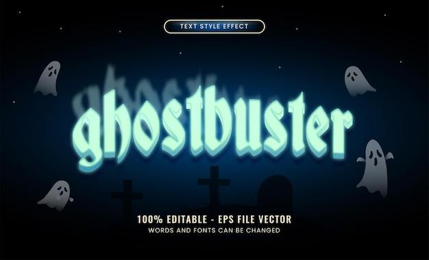 Ghost bewerkbaar teksteffect premium vector