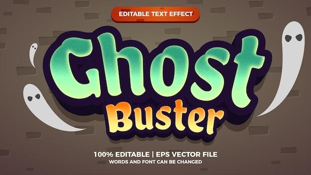 Ghost buster cartoon komische bewerkbare teksteffect stijlsjabloon