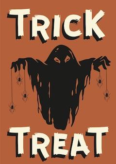 Ghost halloween of geest voor halloween-poster