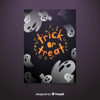 Ghost halloween party folder sjabloon