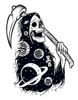 Ghost of the galaxy illustratie