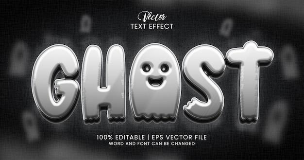 Ghost-tekst, 3d-horror bewerkbare teksteffect stijlsjabloon