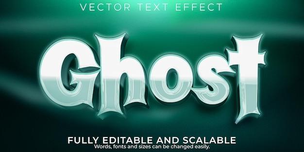 Ghost-teksteffect, bewerkbare horror en cartoon-tekststijl