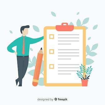 Giant check lijst illustratie