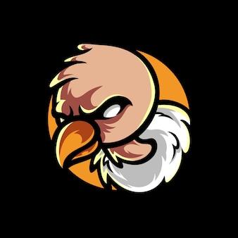 Gier condor mascotte logo ontwerp