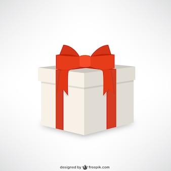 Gift box met rood lint