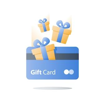 Gift card illustratie Premium Vector