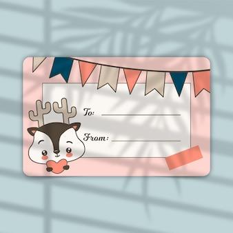 Gift card label redactionele sjabloon
