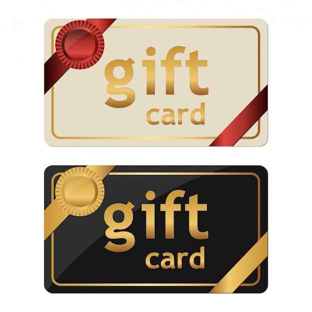 Gift card ontwerp illustratie op een witte achtergrond