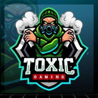 Giftig mascotte esport logo-ontwerp