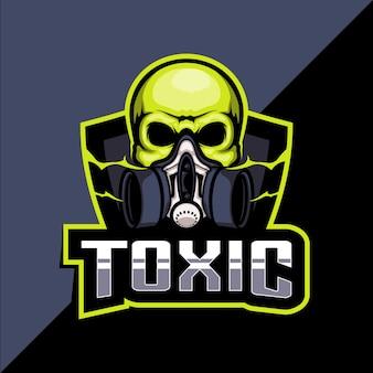 Giftig masker esport logo ontwerp Premium Vector