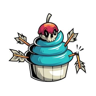 Giftige en dodelijke cupcake