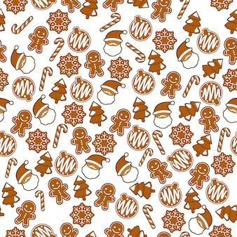 Ginger bread kerstthema naadloze patroon
