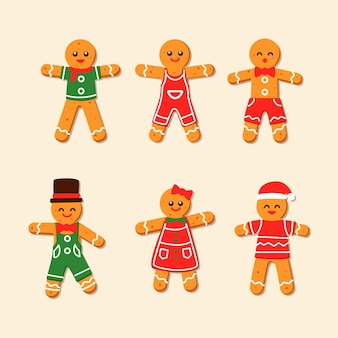 Gingerbread man cookie-collectie