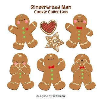 Gingerbread man in verschillende posities collectie