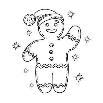 Gingerbread man kleurboek kerstmis en nieuwjaar
