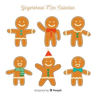 Gingerbread man met accessoires collectie