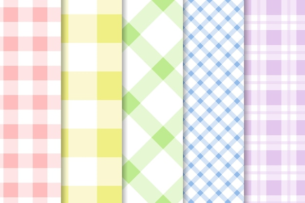 Gingham patroon collectie