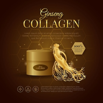 Ginseng collageen body cream ad