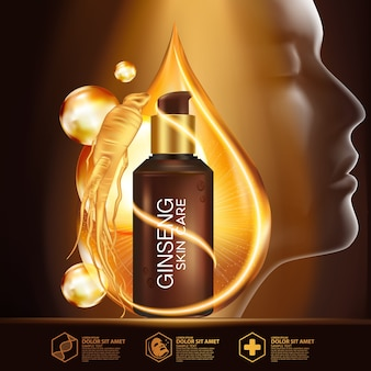 Ginseng serum natuurlijke huidverzorging cosmetica