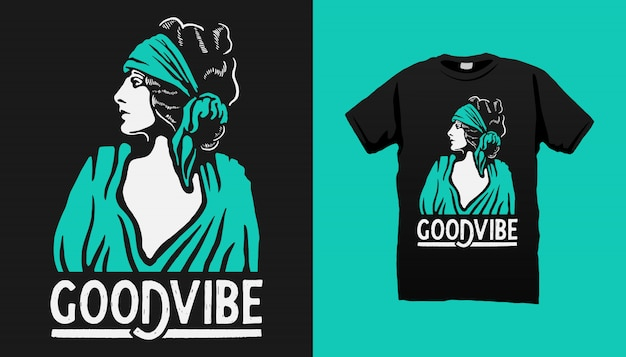 Gipsy woman tshirt design met quotes