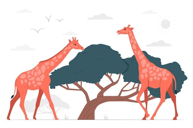 Giraf concept illustratie