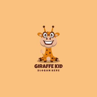 Giraf logo mascotte