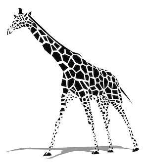 Giraf zwart en wit