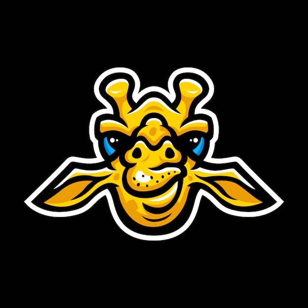 Giraffe hoofd mascotte logo