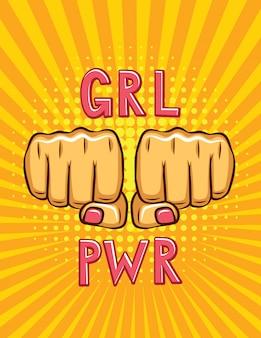 Girl power pop-art stijl poster