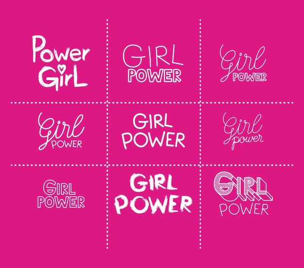 Girl power stickers instellen