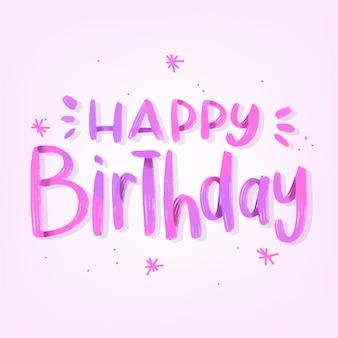 Girly gelukkige verjaardag belettering