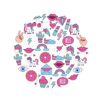 Girly pictogramafbeelding