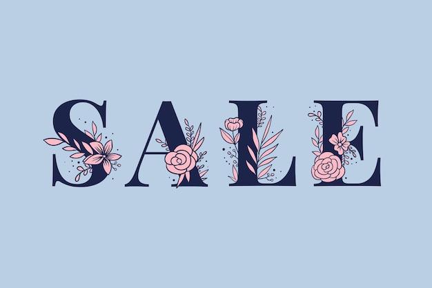 Girly sale woord vrouwelijke typografie lettertype belettering
