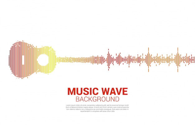 Gitaar geluidsgolf muziekequalizer voor een concert en muziekfestival
