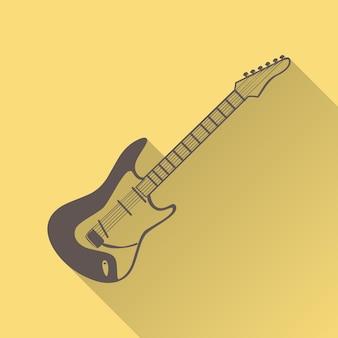 Gitaar pictogram illustratie, muziek patroon. creatieve en luxe hoes