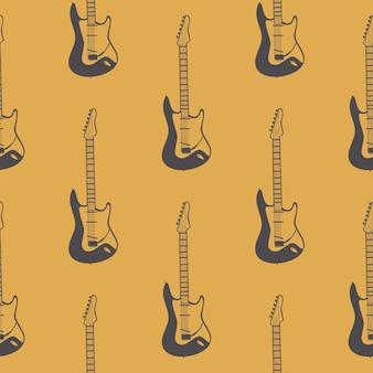 Gitarenpatroon, muziekachtergrond. retro en luxe stijl illustratie
