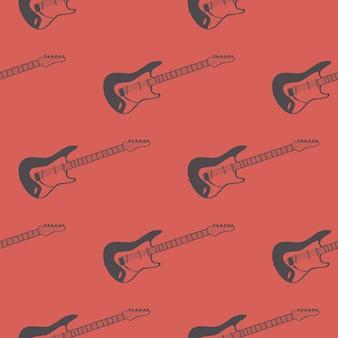 Gitarenpatroon, muziekillustratie. creatieve en luxe hoes