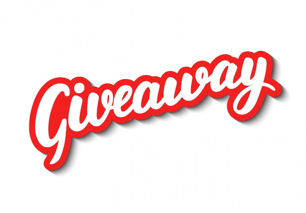 Giveaway belettering.