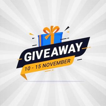 Giveaway sjabloonontwerp voor spandoek voor sociale media plaatsen