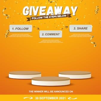 Giveaway-stappen voor het ontwerpen van sociale media-wedstrijden voor sociale media