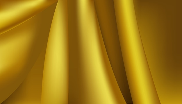 Gladde elegante luxe gouden, gele zijde of satijn textuur