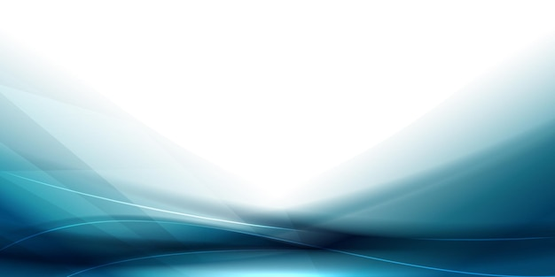 Gladde futuristische blauwe golfachtergrond